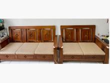 [9成新] 3+2原木沙發附椅墊木製沙發無破損有使用痕跡