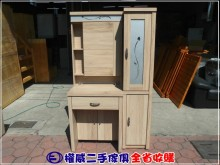 [9成新] 權威傢俱/橡木色3尺收納化妝台鏡台/化妝桌無破損有使用痕跡