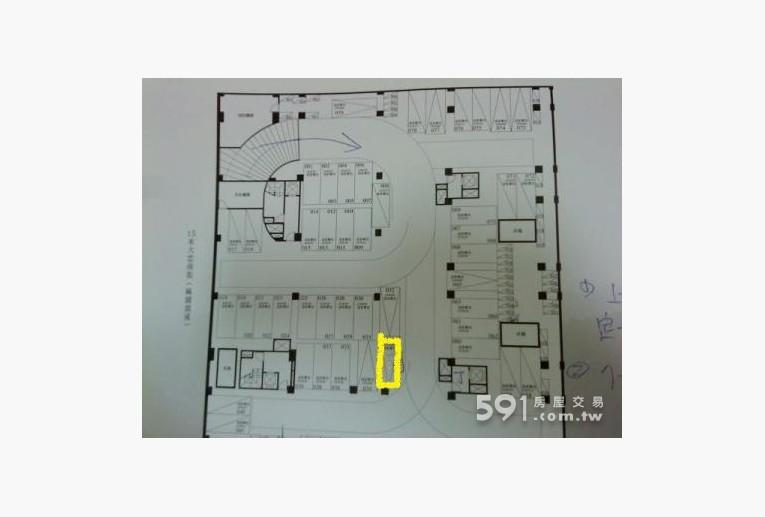 台中租屋,西區租屋,車位出租,平面圖黃色標出的位置J為電梯上下處
