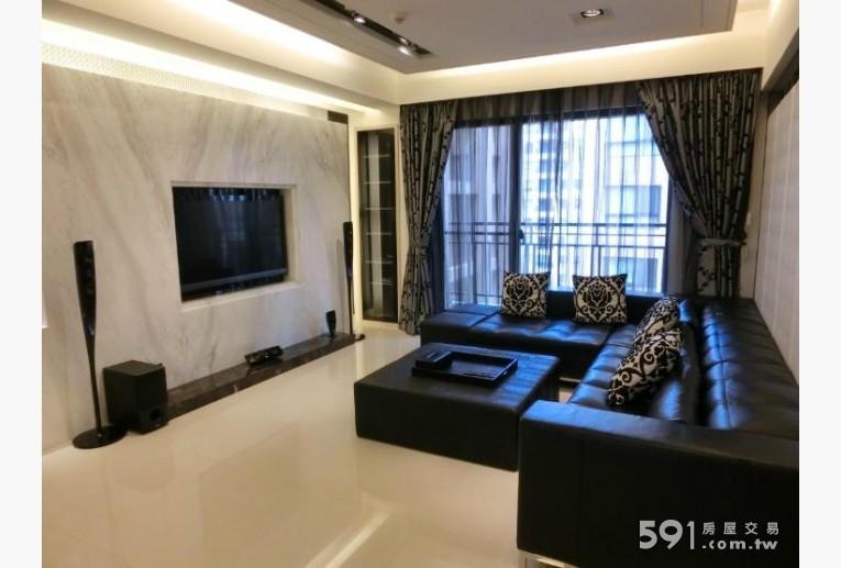 台北租屋,南港租屋,整層住家出租,全大理石面牆,真皮訂作時尚沙發