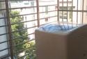 光線充足的陽台與曬衣空間