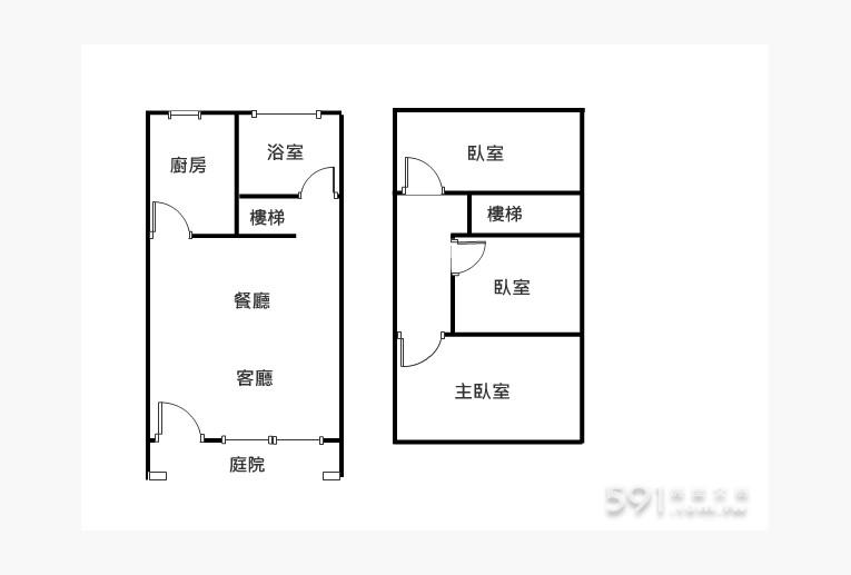 新北租屋,永和租屋,整層住家出租,1+2樓格局圖