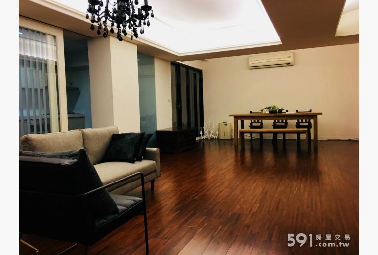 台北租屋,大同租屋,住辦出租,超寬敞客廳與用餐或會議空間實木地