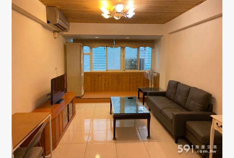 台北租屋,士林租屋,整層住家出租,01-開放式客廳-電視,沙發